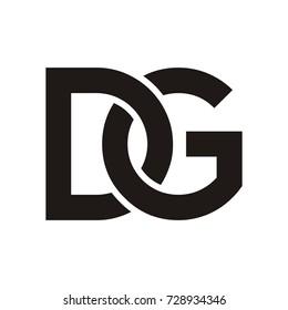 DG logo initial letter design template vector