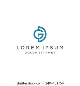 DG Logo Monogram Icon Vector Template
