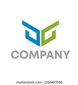 dg logo vector design template sign