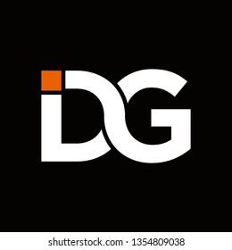 dg typography vector logo