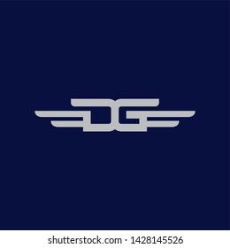 DG Wing Logo Combination Letter D + G + Wing