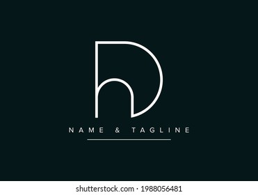 DH or HD Abstract initial monogram letter alphabet logo