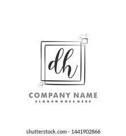 DH Initial beauty monogram logo vector