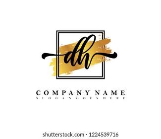 DH Initial handwriting logo concept