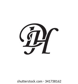DH initial monogram logo