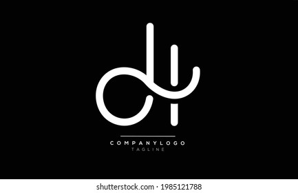 DH initials monogram letter text alphabet logo design
