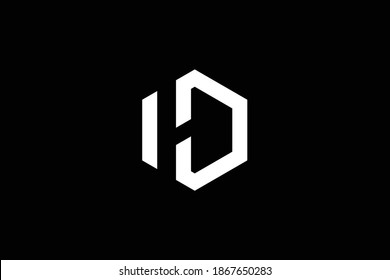 DH letter logo design on luxury background. HD monogram initials letter logo concept. DH icon design. HD elegant and Professional white color letter icon design on black background. D H