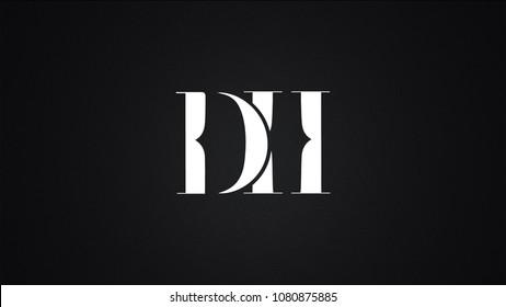 DH Letter Logo Design Template Vector