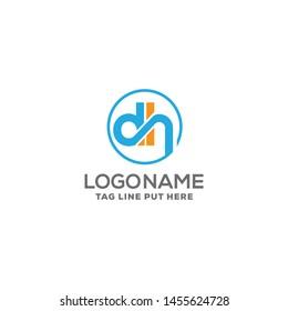 dh letter logo identity design