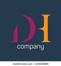 DH logo design. Monogram logo