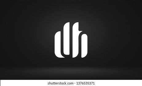 DH logo design template vector letter