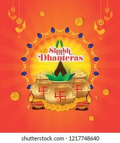 Dhanteras Festival Background Template Design