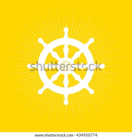 Dharma Wheel Buddhism Symbol Stock Vector Royalty Free 434950774