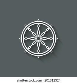 dharma wheel design element - vector illustration. eps 10