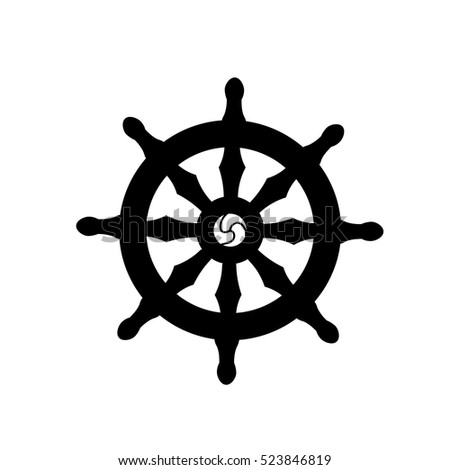 Dharmachakra Wheel Dharma Symbol Buddhism Hinduism Stockvector