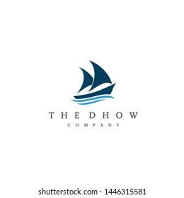 Dhow Or Ship Logo Design Inspiration Vector