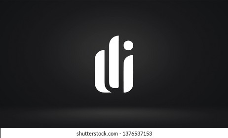 DI logo design template vector letter