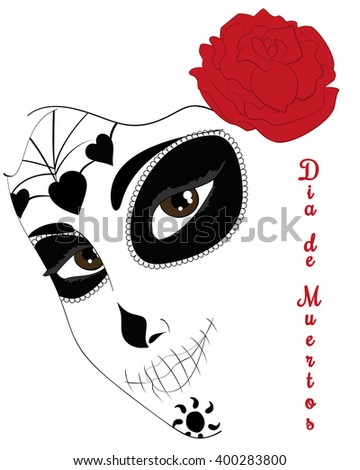 Dia De Los Muertos Abstract Mask Stock Vector Royalty Free