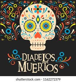 Dia de los Muertos - Day Of The Dead Mexico background design vector illustration