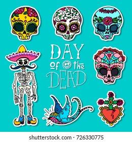 Dia de los Muertos / Day of the Dead stickers
