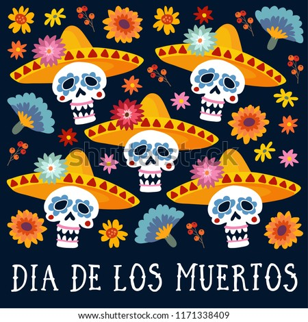Dia de los muertos greeting card stock vector royalty free dia de los muertos greeting card invitation mexican day of the dead decorative m4hsunfo
