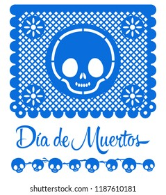 Dia de Muertos, Day of the death spanish text mexican traditional holiday  decoration elements vector design