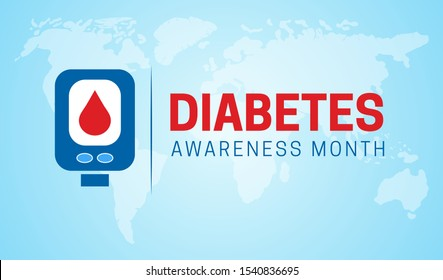 Diabetes Awareness Month Background Illustration
