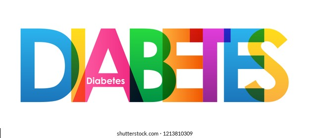 DIABETES colorful letters banner