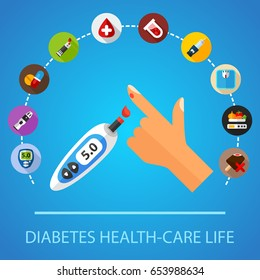 Diabetes concept. Vector illustration