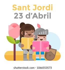 Diada de Sant Jordi a Catalunya: La rosa i els cavallers