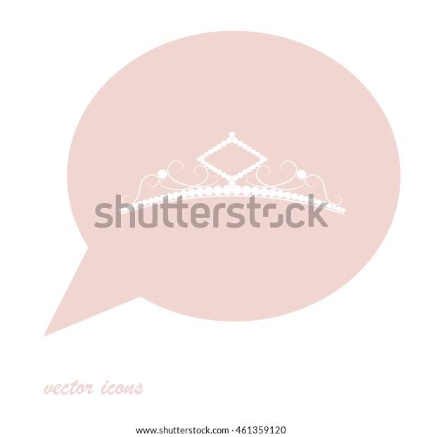 Diadem vector icon