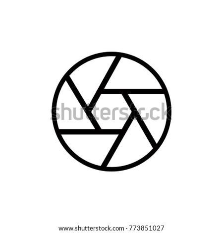 Diafragma Icon Vector Stock Vector Royalty Free 773851027