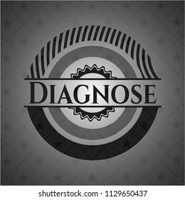 Diagnose realistic black emblem