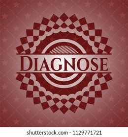 Diagnose red emblem. Retro