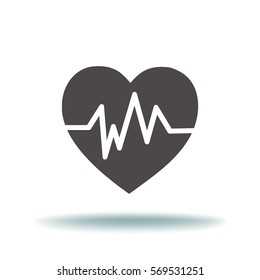 Diagnosis of heart icon