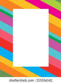 Diagonal Candy Stripped Frame - Vector