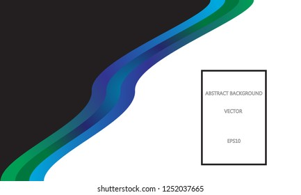 Diagonal fluid ribbon background with space