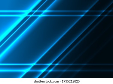 Diagonal glowing lines on a dark blue background.