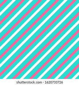Diagonal line pattern. Stripe abstract background. Vector. Retro design. Pink, blue colors. Eps10.
