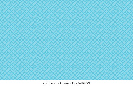 Diagonal mondrian pattern vector. Design square shapes cyan on light cyan background. Design print for illustration, textile, texture, wallpaper, background. Set 3