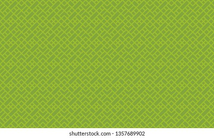 Diagonal mondrian pattern vector. Design square shapes metallic green on green background. Design print for illustration, textile, texture, wallpaper, background. Set 7