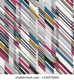 Diagonal Multicolor Stripes with Different Density