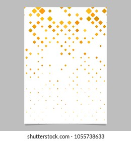 Diagonal square pattern brochure template - vector tile mosaic page background