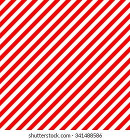 Diagonal stripe red-white pattern vector