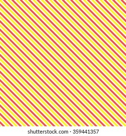 Diagonal stripe seamless pattern. Geometric classic yellow and red line background.