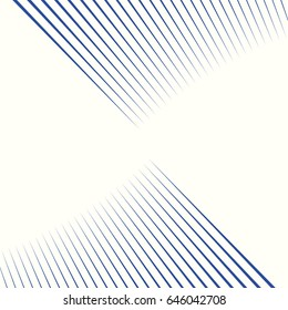 Diagonal striped illustration. Repeated blue lines on white background. Surface pattern design with linear ornament. Stripes wallpaper. Digital paper for web designing. Vector art