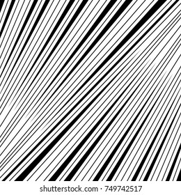 Diagonal striped illustration. Repeated slanted lines background. Surface pattern design with linear ornament. Colorless disco lights motif. Stripes wallpaper. Angle rays. Pinstripes vector art.
