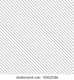 Diagonal thin black lines abstract on white background. Seamless surface pattern design with linear ornament. Angled straight stripes motif. Slanted pinstripe. Striped digital paper for print. Vector.
