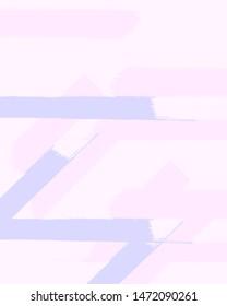 Diagonal, Vertical, Horisontal Stripes. Pastel Brush Strokes Pattern. Halftone Blue, Pink Stripes Print. Stylish Striped Background. Gentle Abstract Banner. Spring Pastel Brush Lines.