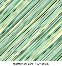 Diagonal wavy lines pattern. Colored curve shapes. Repetitive vector background.